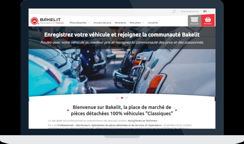 Vue du site internet Bakelit