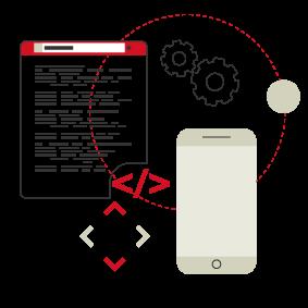 Smartphone à côté de données